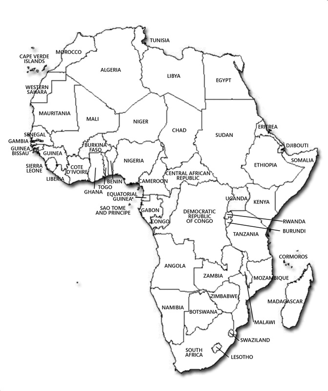 Map Project World Cultures Th Grade - Togo map outline